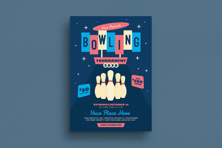 Thumbnail for Bowling Night Event Flyer
