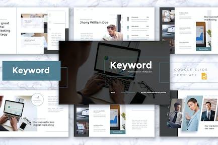 KEYWORD - SEO Digital Marketing Google Slides