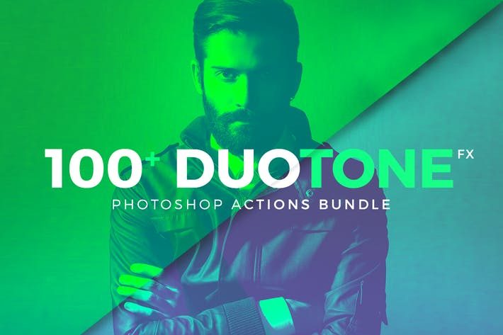 Thumbnail for Duotone Photoshop Action Bundle