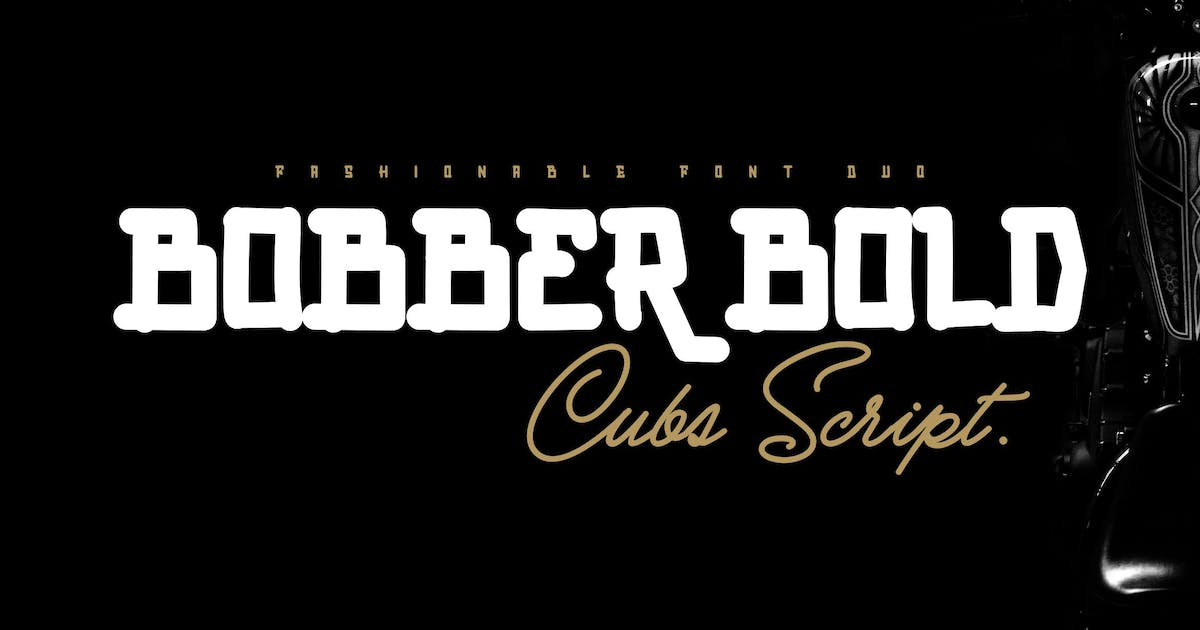 Download BOBBER BOLD & Cubs Script (FONT DUO) by inumocca