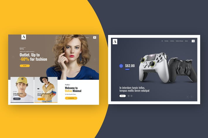 Website Featured Area Design Concept Template