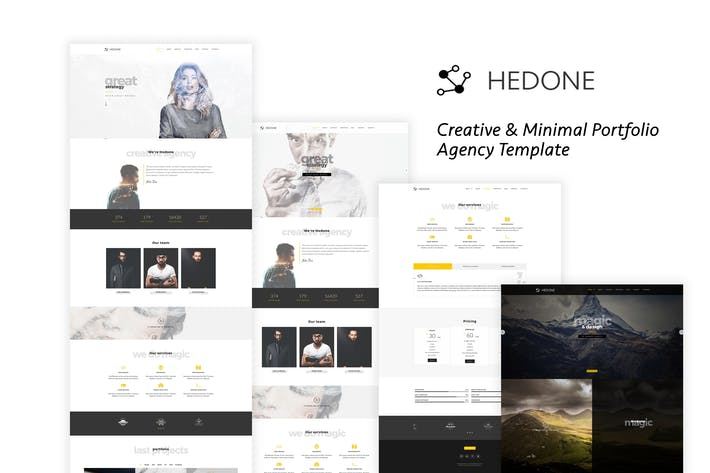 Thumbnail for Hedone - Creative & Clean Portfolio / Agency Templ