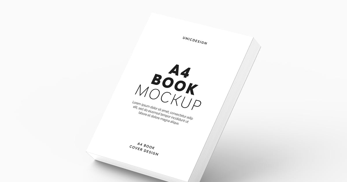 Download A4 Book Mockup by UnicDesign