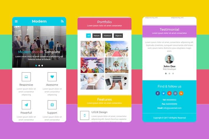Thumbnail for Modern - Multipurpose Mobile Template