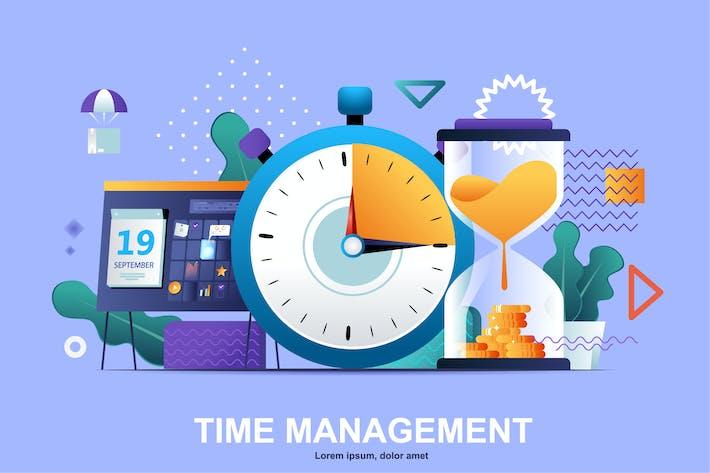 Thumbnail for Time Management Flat Concept Vector Illustration