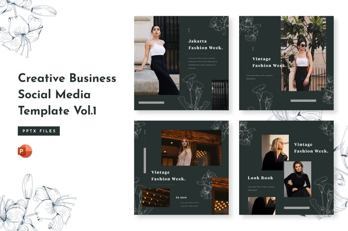 Thumbnail for Creative Business Social Media Template Vol. 1