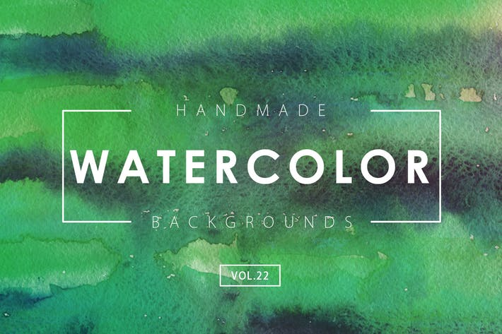 Cover Image For Handmade Watercolor Backgrounds Vol.22