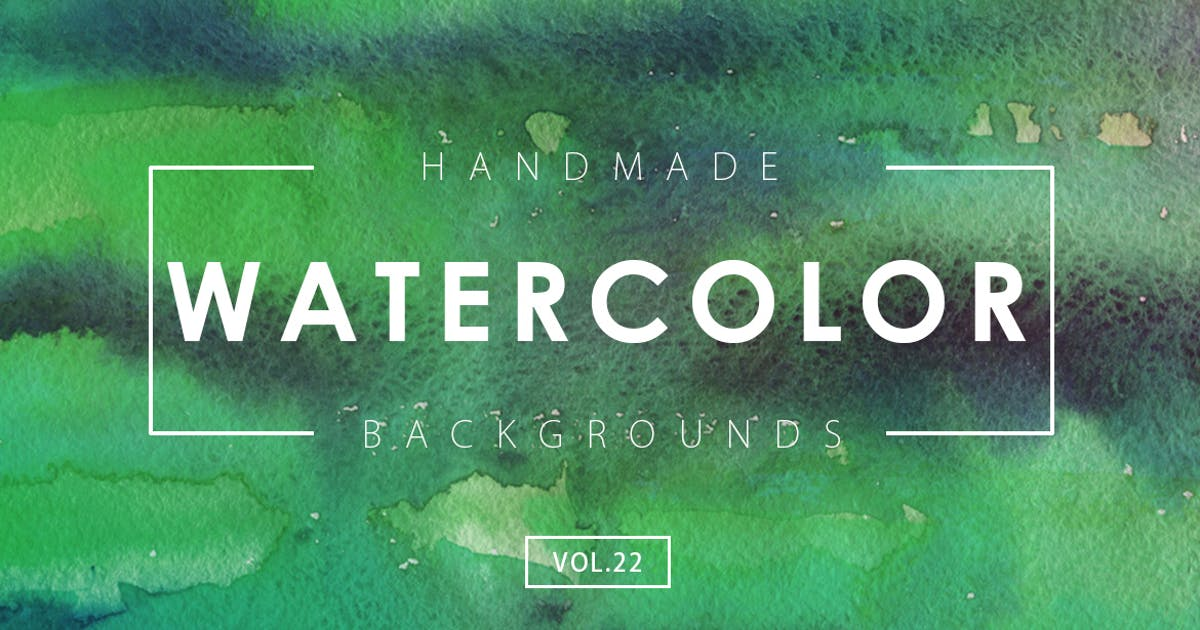 Download Handmade Watercolor Backgrounds Vol.22 by M-e-f