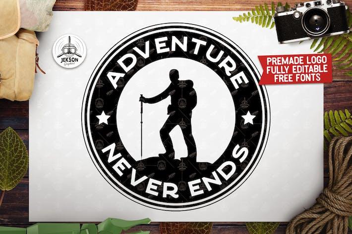 Thumbnail for Retro Adventure Insignia,  Camp Vector Logo Label