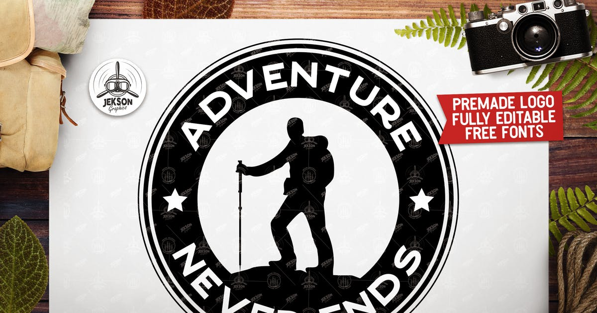 Download Retro Adventure Insignia,  Camp Vector Logo Label by JeksonJS