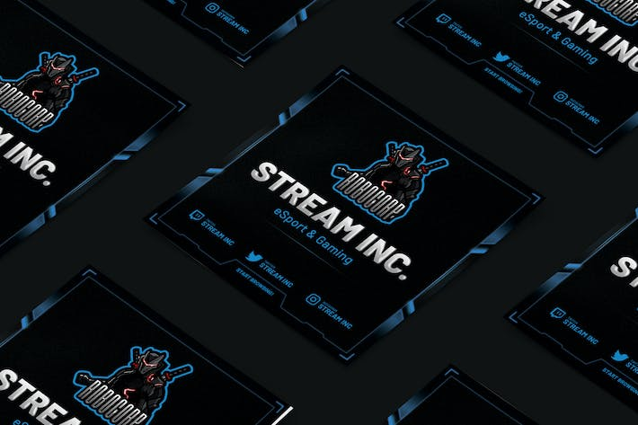 Thumbnail for Streamer eSports & Gaming Square Flyer
