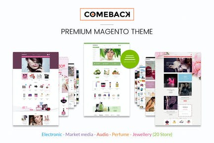 Comeback Reponsive Magento Theme CE 1.9 & 2