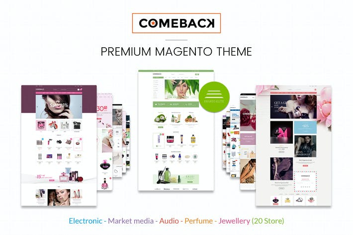 Cover Image For Comeback Reponsive Magento Theme CE 1.9 & 2