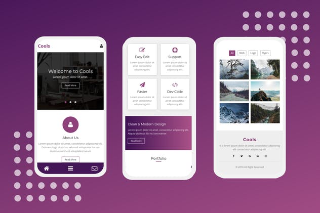 Cools - A Clean Mobile Template