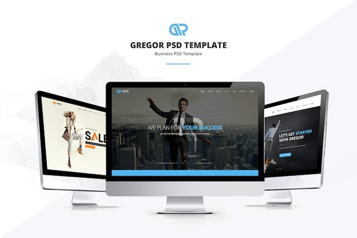 Thumbnail for Gregor - Business PSD Template