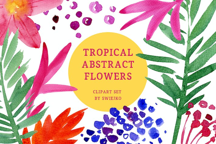 Tropical Abstract Flowers