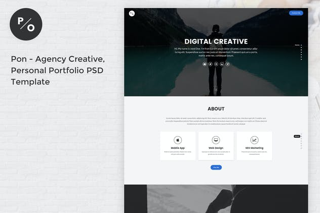 Pon - Agency Creative, Personal Portfolio