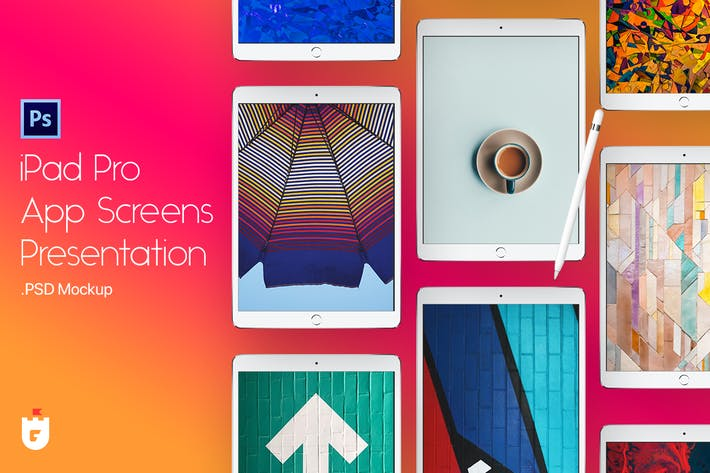 Thumbnail for iPad Pro App Screen Presentation Mockup