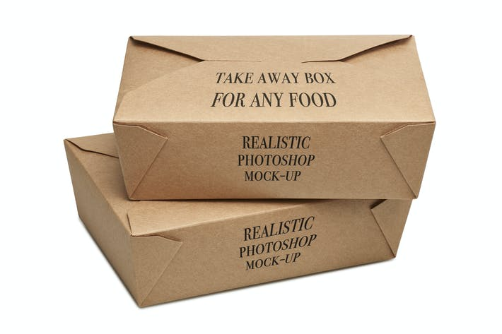 Thumbnail for Take away BOX Mock-up_02