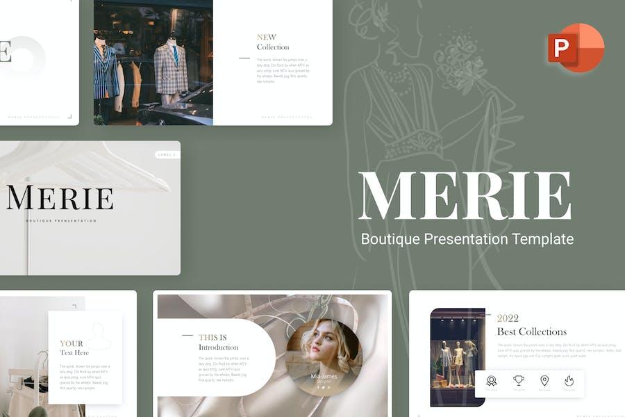 Merie Boutique Minimalist PowerPoint Template