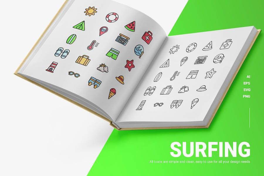 Surfen - Icons