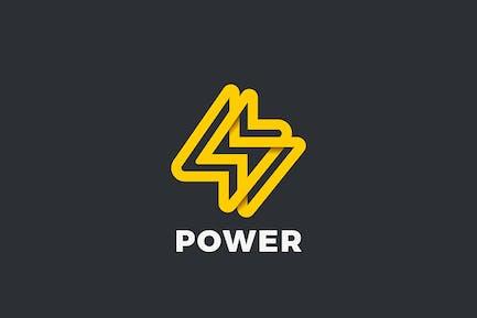 Flash Bolt Logo Energy Battery Power Speed Drink