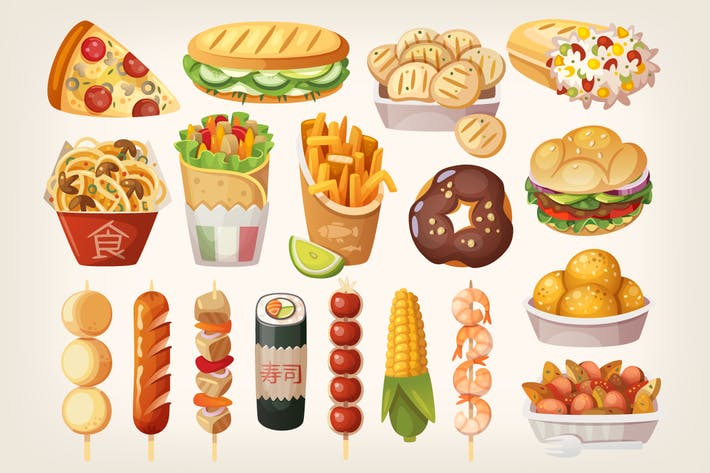 Cover Image For Street Food Icons