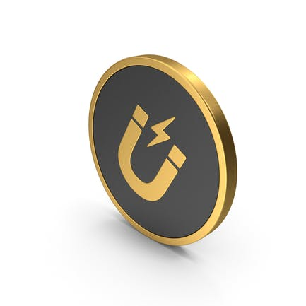 Gold Icon Magnet