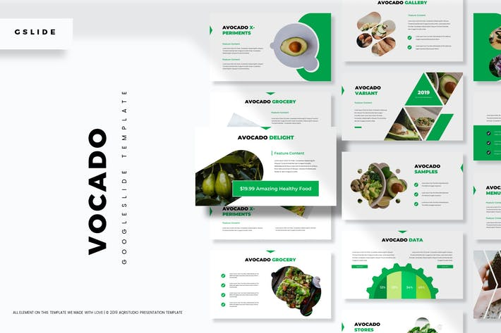 Thumbnail for Vocado - Google Slides Template