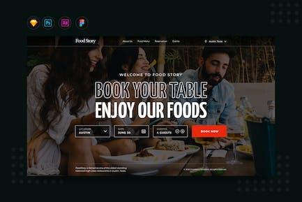 DailyUI.V10 Restaurant Booking Landing Website