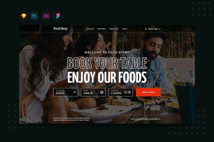 Thumbnail for Site Web de réservation de restaurant Dailyui.v10