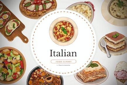 Italian food - handdrawn elements