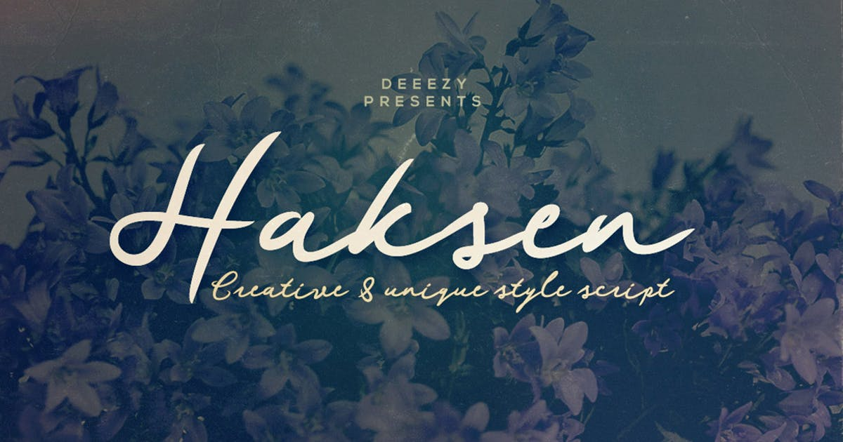 Download Haksen Script Font by cruzine
