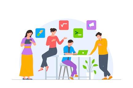 Top Team Mentor - Online Course Illustration
