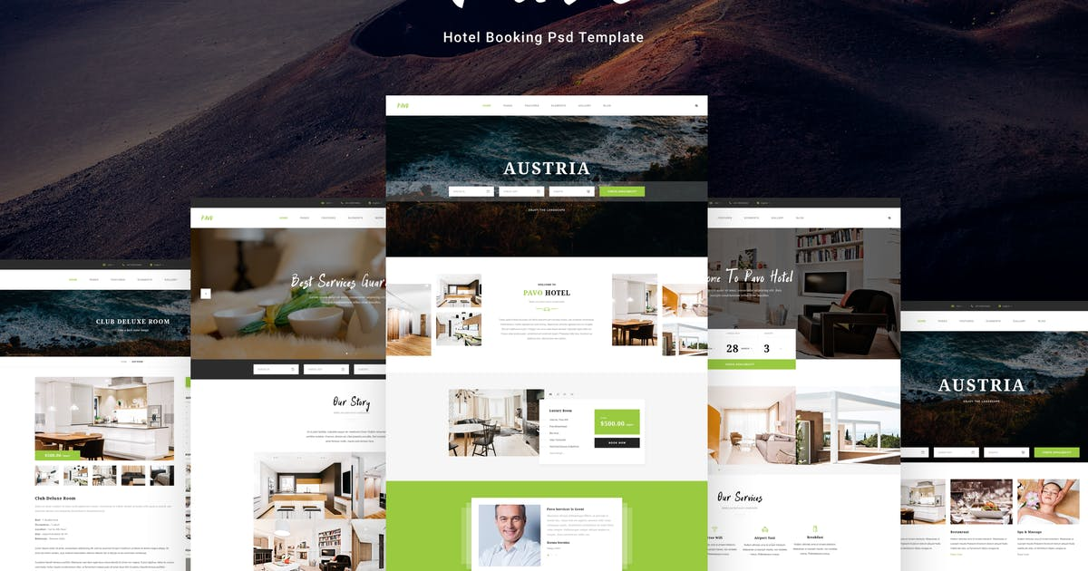 Download Pavo - Hotel PSD Template by AlitStudio