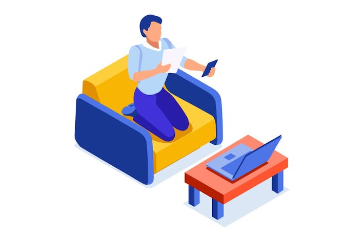 Thumbnail for Abstract Couch Concept Freelancer Laptops