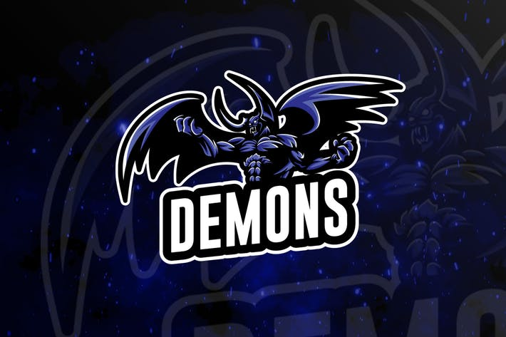 Thumbnail for Demons Teame Sports Gaming Logo