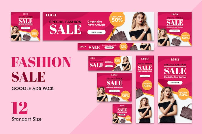 Thumbnail for Google Ads Web Banner Fashion Sale