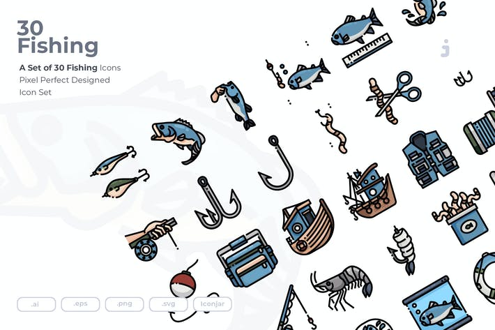 Thumbnail for 30 Fishing Icons