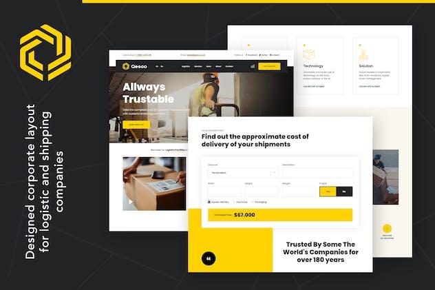 Qesco   Logistic Shipping Company WordPress Theme