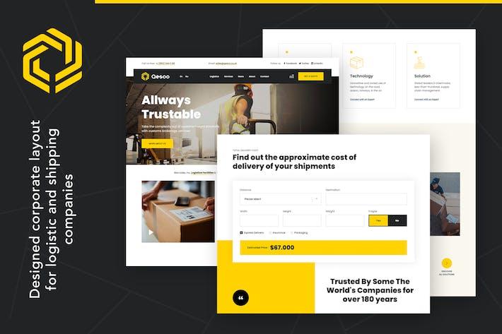 Thumbnail for Qesco | Logistic Shipping Company WordPress Theme