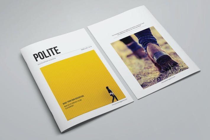 Cover Image For Minimal Magazine Template