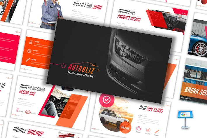 Thumbnail for Autobliz - Automotive Keynote Template