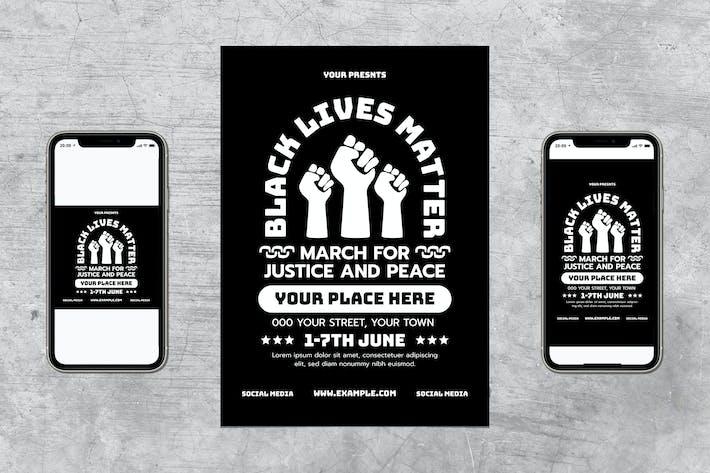 Thumbnail for Black Lives Matter Flyer Set