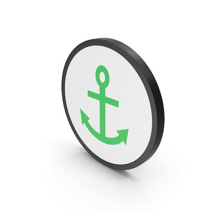 Icon Anchor Green