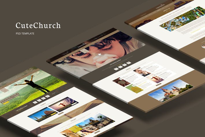 Thumbnail for CuteChurch — Religion PSD Theme