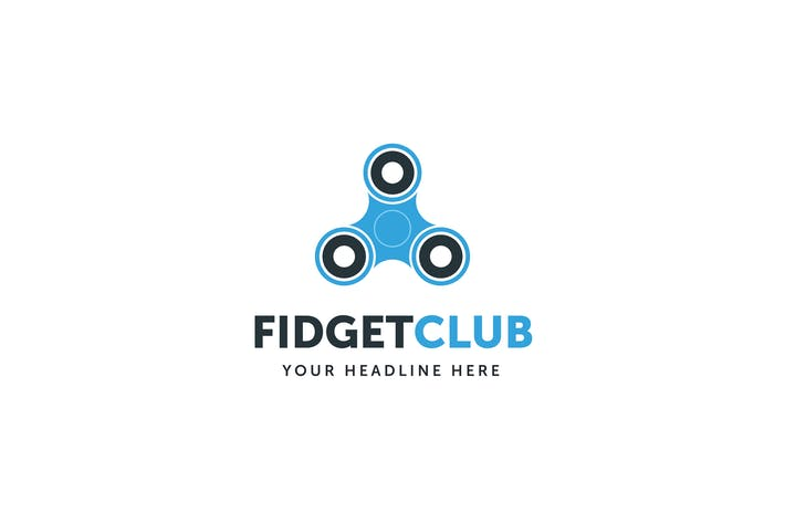Cover Image For Fidget Spinner Club Logo Template