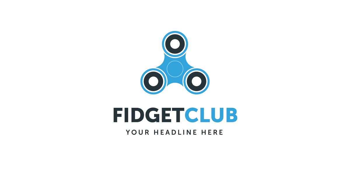 Fidget Spinner Club Logo Template by MuseFrame