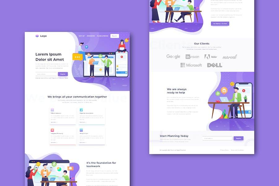 Business Communication Website (XD Template)