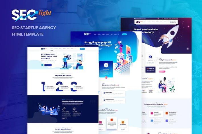 Thumbnail for Seclight - Seo Startup Agence Modèle HTML